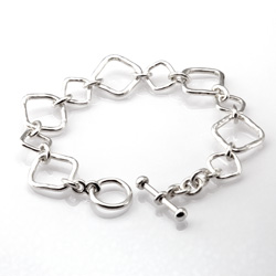 Forged Square Link Bracelet