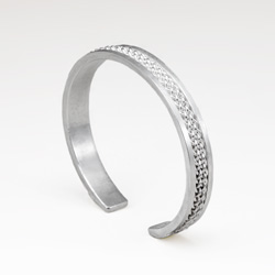Medium Inset Weave Cuff Bracelet by Tamberlaine - sterling silver