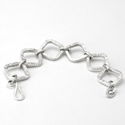 Cross Forged Link Bracelet by Tamberlaine - sterling silver