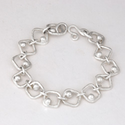 Forged Square Dot Bracelet by Tamberlaine - sterling silver
