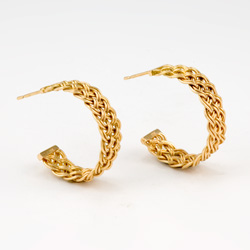 Bar Island Curl Earrings in 18k yellow gold by Tamberlaine