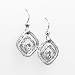 Forged Nested Link Earrings Earrings in sterling silver by Tamberlaine