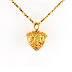 Acorn Pendant - 18k & 22k yellow gold
