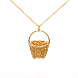 Tiny Fruit Basket Necklace