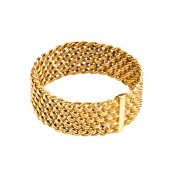 Bar Island Ring fine weave 18k