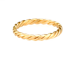 Stack Twist Ring - 18k