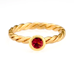 Stack Twist Ring - 18k Pink Tourmaline