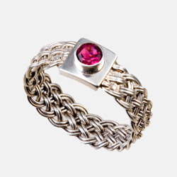Bar Island Ring - pink tourmaline